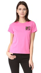 Marc Jacobs Embroidered Classic Tee Pink