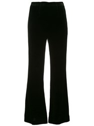 Roland Mouret Flared High Waisted Trousers Black