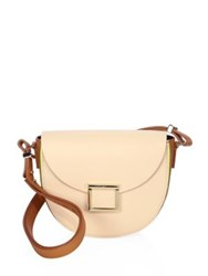 Jason Wu Jaime Colorblock Leather Saddle Bag Dark Moss Ballerina