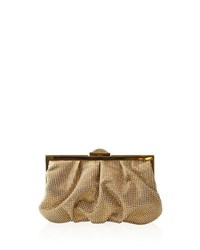 Judith Leiber Natalie Full Bead Foiled Clutch Bag Ch Champagne