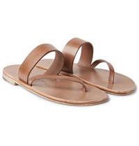 Alvaro Alberto Leather Sandals Tan