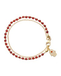 Red Agate Hamsa Friendship Bracelet Astley Clarke Gray