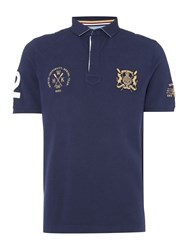 Howick Men's Medford Rowing Short Sleeve Polo Shirt Navy