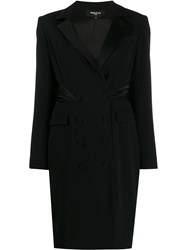 Paule Ka Double Breasted Fitted Dress Black