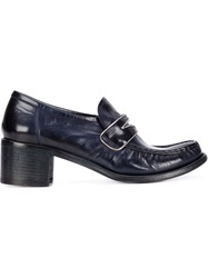 Silvano Sassetti Chunky Heel Penny Loafers Blue