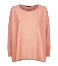 Eileen Fisher Boat Neck Knit Top Female Pink