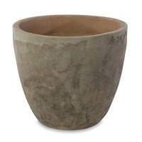 Nkuku Affiti Clay Planter Antique Grey Neutral