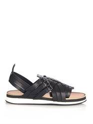 Bottega Veneta Multi Strap Leather Sandals