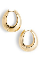 Tom Wood Women's Large Ice Vermeil Hoop Earrings 925 Silver 9K Gold