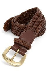 Men's Big And Tall Polo Ralph Lauren Leather Belt Cognac