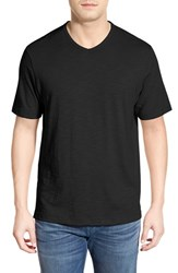 Men's Tommy Bahama 'Portside Player' Pima Cotton T Shirt Black