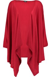 Dkny Draped Silk And Cashmere Blend Cardigan Red
