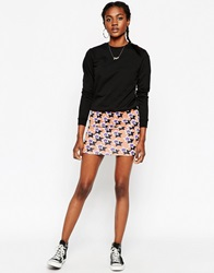 Asos Mini Bodycon Skirt In Star Print