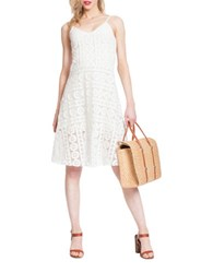 Plenty By Tracy Reese Lace Midi Dress Soft White