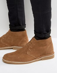 Selected Homme Royce Suede Desert Boots Tan