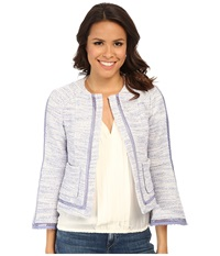Nanette Lepore Graphic Jacket Perwinkle Women's Coat Blue