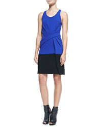 Alexander Wang Sleeveless Colorblock Tank Dress