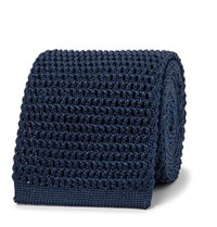 Tom Ford 7.5Cm Knitted Silk Tie Storm Blue