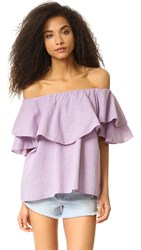 Mlm Label Maison Off Shoulder Top Berry White