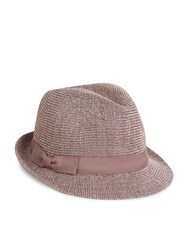 Accessorize Knitted Paper Packable Trilby Hat Mink