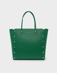 Charles And Keith Reversible Oversized Tote Green
