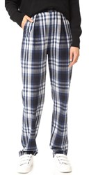 3X1 Pajama Pants Blue And White Plaid