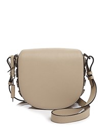Mackage Rima Saddle Bag Crossbody Sand Gunmetal