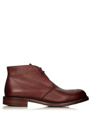 Cheaney Shackleton Shearling Lined Leather Boots Burgundy