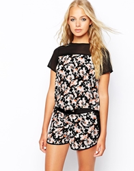 Influence Floral Print Top With Contrast Detail Multi