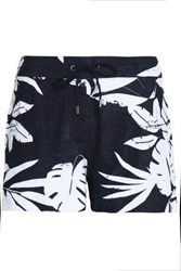 Orlebar Brown Printed Cotton Terry Shorts Navy
