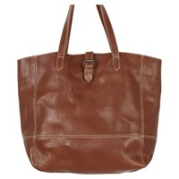 Fat Face Lily Large Leather Buckle Tote Bag Chestnut