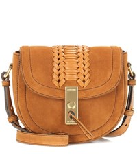 Altuzarra Ghianda Saddle Mini Suede Shoulder Bag Brown