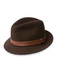 Bailey Of Hollywood Perry Center Dent Fedora Tobacco