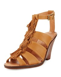 Tommy Bahama Palrinna Fringe Wedge Sandal Brown