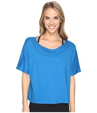 Lucy Dream On Short Sleeve Top Imperial Blue Women's Short Sleeve Pullover Multi