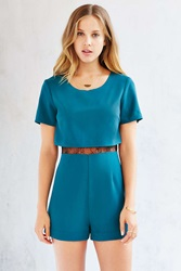 Kimchi And Blue Kimchi Blue Lace Insert Romper Teal