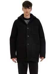 Acne Studios Min Oversized Wool Coat Black