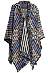 Missoni Fringed Wool Cape With Cashmere Multicolored