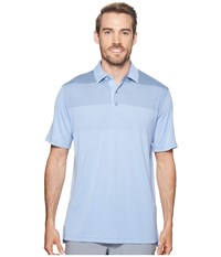 Callaway Engineered Gradient Body Map Polo Chambray Clothing White