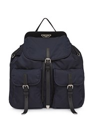 Prada Nylon And Saffiano Leather Backpack 60