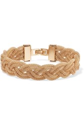 Kenneth Jay Lane Woven Gold Tone Cuff One Size