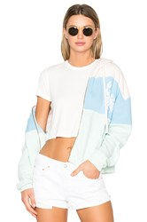 Wildfox Couture Sand Crab Stripe Hoodie Blue