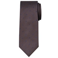 Chester By Chester Barrie Textured Dot Silk Tie Brown