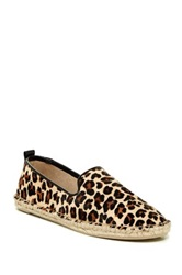 Kenneth Cole Reaction Boom Er Genuine Calf Hair Espadrille Flat Brown