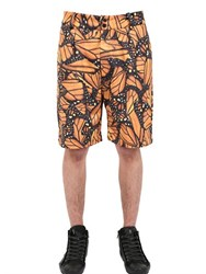 Der Metropol Butterfly Printed Techno Canvas Shorts
