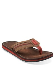 Clarks Riverway Sun Thong Sandals Brown