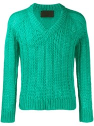 Prada Chunky V Neck Knit Top 60