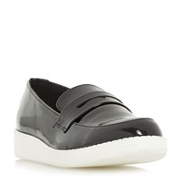 Head Over Heels Glider White Eva Sole Loafers Black