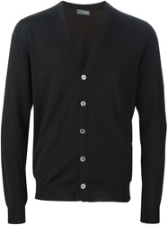 Drumohr V Neck Cardigan Black