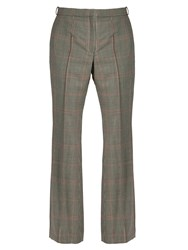 Nina Ricci Prince Of Wales Checked Mid Rise Trousers Multi